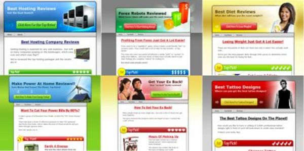 Product picture 6 Wordpress Review Web Sites with MRR