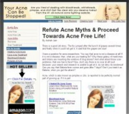 Product picture Acne: Adsense Optimized Clickbank Ready Websites - MRR