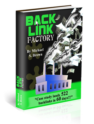 Product picture Backlink Factory ebook with RR